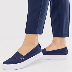 Lacoste canvas sneakers